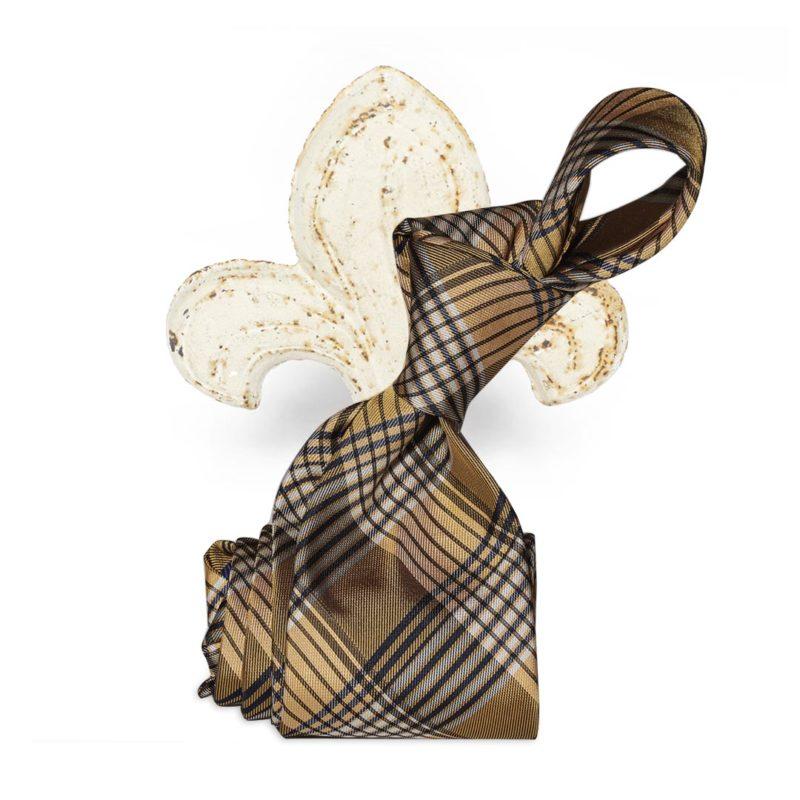 Cravatta madras giallo oro
