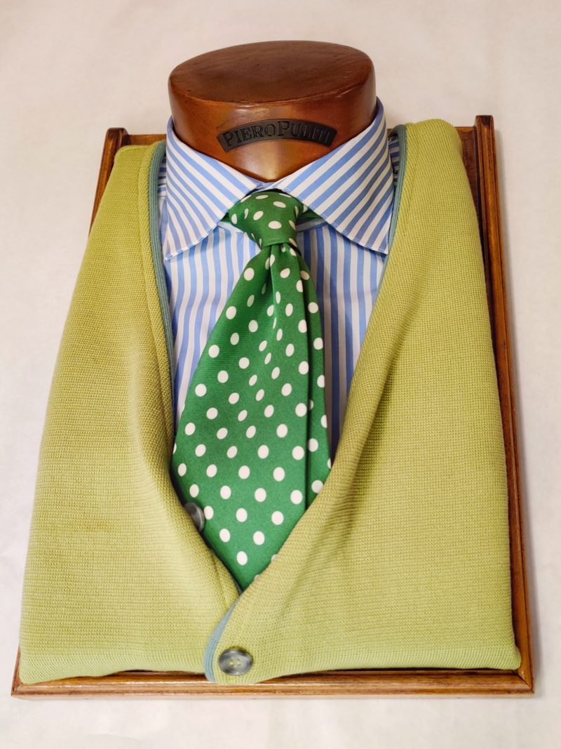 Gilet in cotone lime