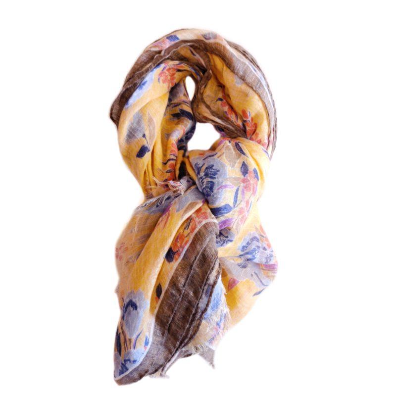 Sciarpa lino gialla